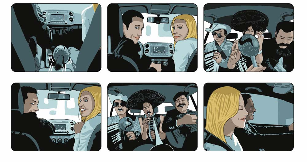 Storyboard publicitario para spot.
