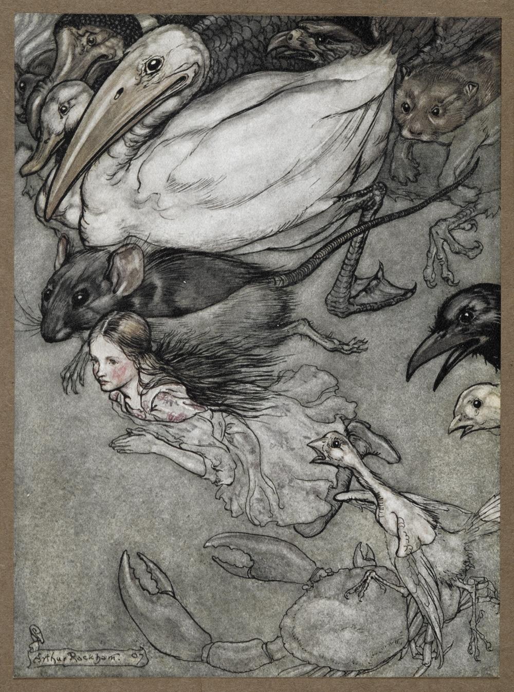ilustracion alicia en el pais de las maravillas 4