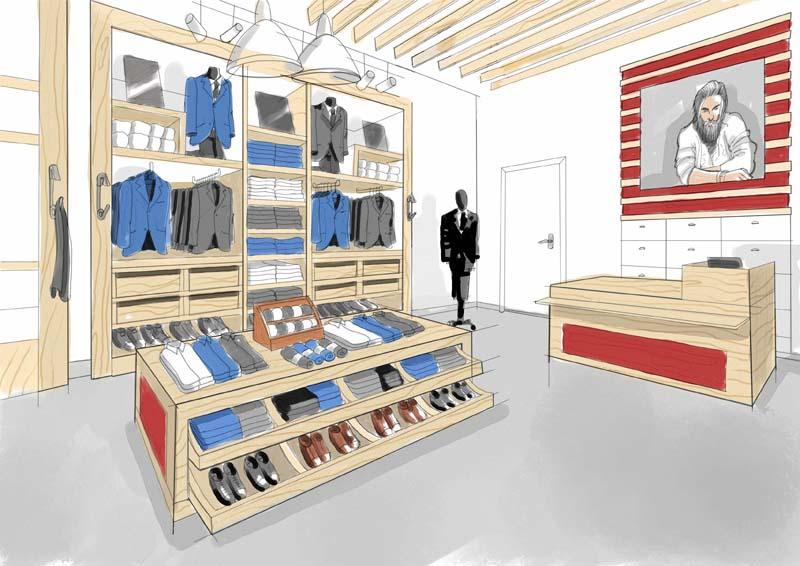 Ilustración Diseño Tiendas 3