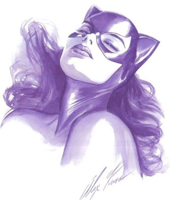 estudio de Catwoman. Alex Ross