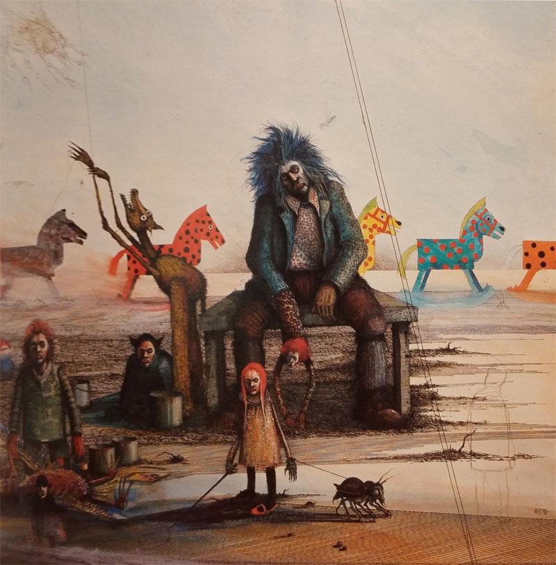 La Muerte en la Fábrica de Caballitos, ilustración de Ian Miller