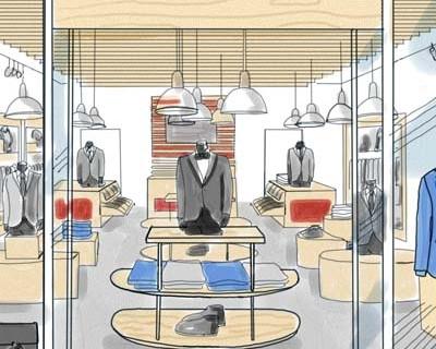 Ilustraciones Interior Tiendas