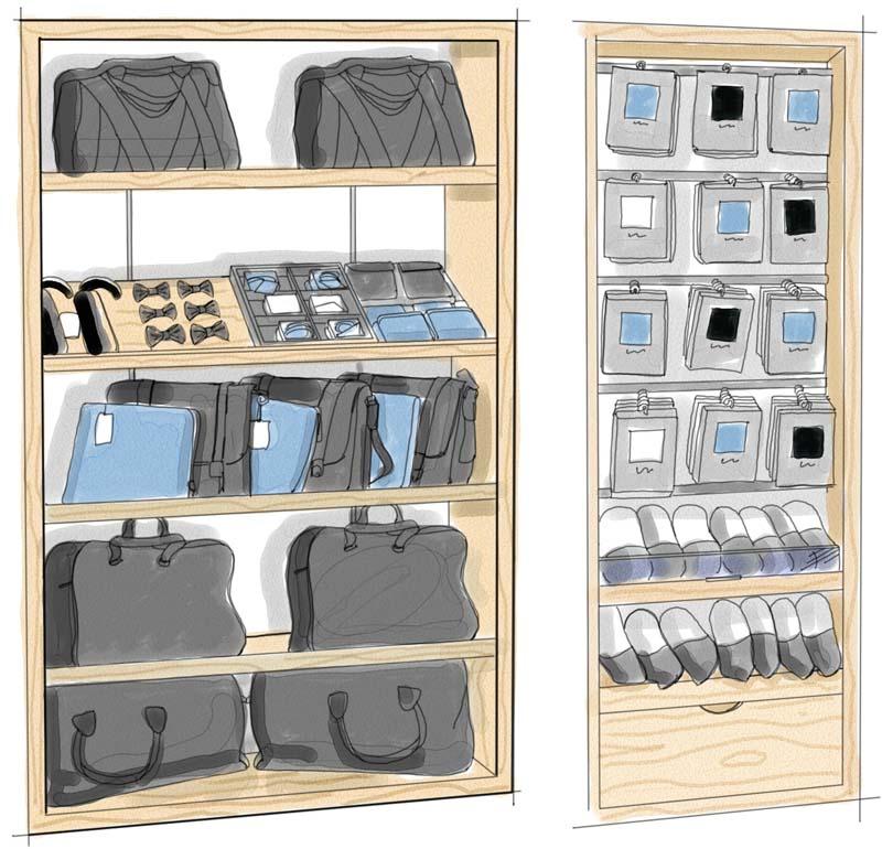 Dibujos de armarios para tiendas de ropa
