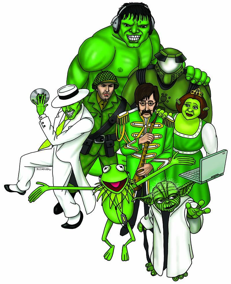 Ilustración con personajes famosos para FNAC