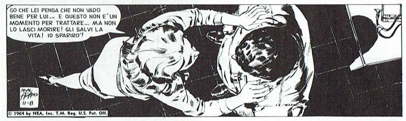 Angulación vertical a plomo sobre, los dos personajes en una viñeta de Ben Casej.