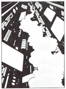 Una perspectiva insólita, cuya rareza viene incrementada por el carácter futurista del escenario, perteneciente a Tales From Somnopolis, de Beto Hernández.