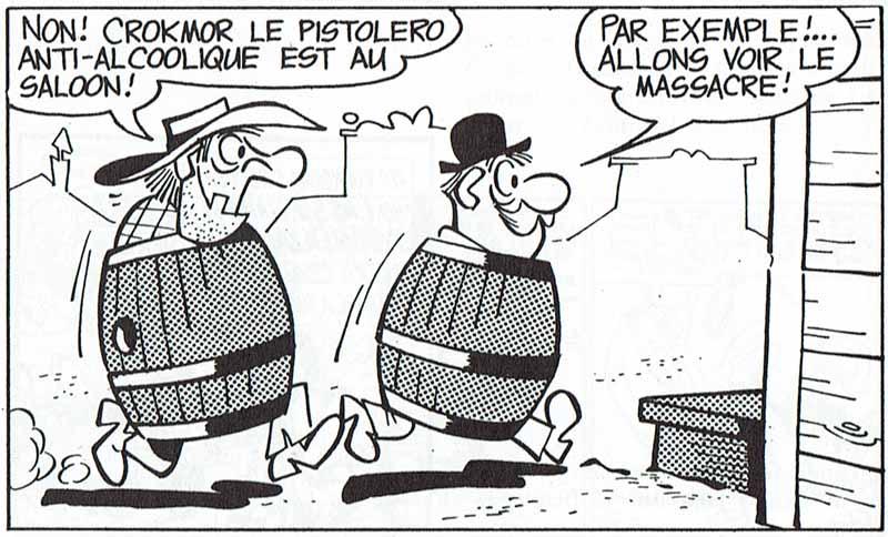 Dos arruinados jubilosos se dirigen a un saloon en Whisky & Gogo, de Bottaro y Chendi. © Bottaro y Chendi.