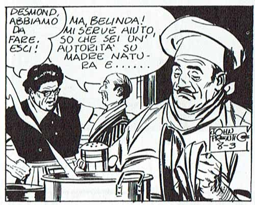 Un cocinero bigotudo en Rip Kirby (1971), de John Prentice.