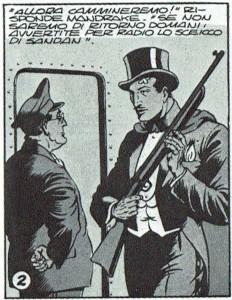 Incluso comics de grafismo naturalista, como Mandrake (1946) de Phil Davis, han utilizado excepcionalmente el estereotipo del esparadrapo para designar una herida.