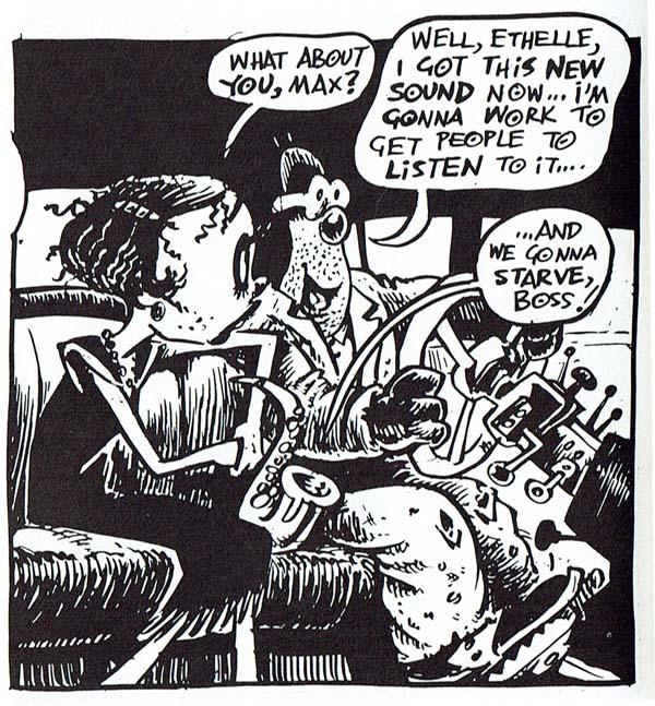 Viñeta de Hunt Emerson, Max Zillion (1986)