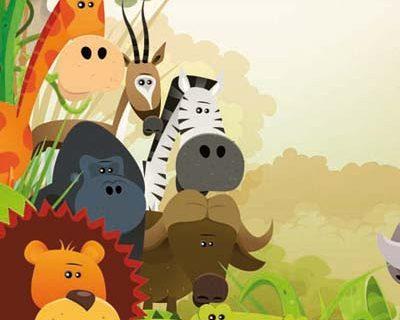 """Ilustración de cuento """"La Selva"""" para niños"""